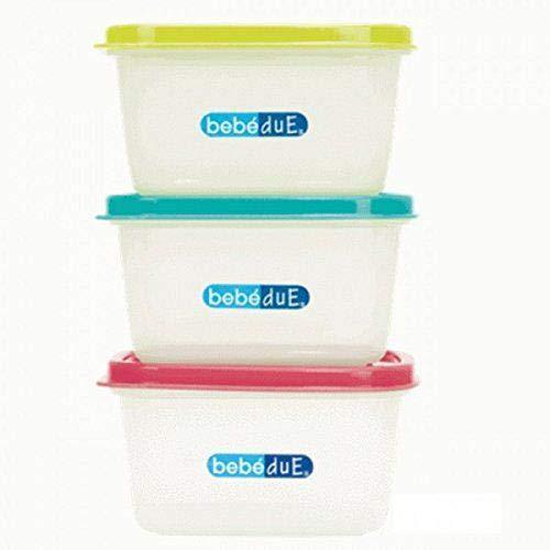 BebeDue - Set de envases Bebé Due Termaline 3 x 400 cc. multicolor