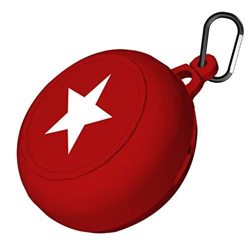 William-Lee 2019 beschermhoes voor koptelefoon, schokbestendig, flexibel, siliconen, draadloos, met klapdeksel, voor Beats Powerbeats Pro koptelefoon rood