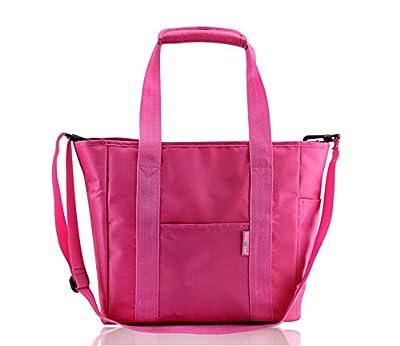 Diaper Tote Bag with Insulated Bottle Pocket,multifunctional Eco-friendly Shoulder Bag