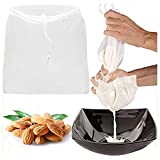 2 Pcs Pro Quality Nut Milk Bag - Big 12'X12' Commercial Grade - Reusable Almond Milk Bag & All Purpose Food Strainer - Fine Mesh Nylon Cheesecloth & Cold Brew Coffee Filter