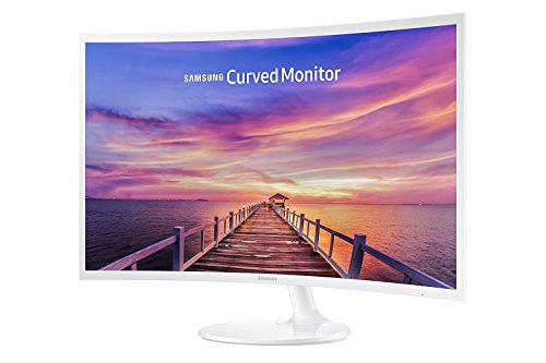 "Samsung 2017 32"" Full HD 1920 x 1080 Curved LED Ultra Slim Monitor with 16:9, 250cd/m2, 4ms, Gaming Mode, HDMI, Display Port, Headphones Inputs, Glossy White"