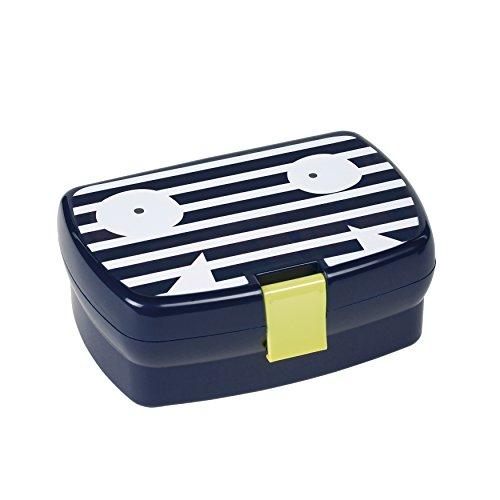 LÄSSIG Kinder Brotdose Lunchbox Snackbox spülmaschinengeeignet/Lunchbox, Little Monsters Bounding Bob