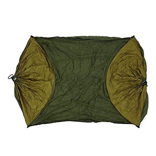 Ongoion Tienda Colgante multifunción, Hamaca al Aire Libre Duradera, Resistente al Desgaste para Acampar en el jardín(Army Green + Camel)