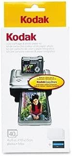 KODAK Genuine (1231349) Photo Paper Kit - Includes Color Ink Cartridge Plus 40 Sheets of 4x6 Photo Paper (PH-40)