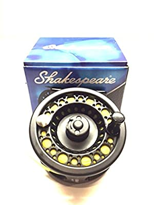 WF 6 Intermediate Shakespeare Fly Fishing Reel Large Arbour with Backing , Line , and Leader loop fitted from shakespeare
