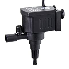 """Specification: Flow rate: 60GPH (230L/H); Recommend Tank Size: 5 Gal; Voltage: 110-120V/60Hz Dimension: 3.25"""" x 2"""" x 1.25"""" (L x W x H); Diameter of intake: Inner: 13 mm, outer: 14.5 mm Includes: Pump(mini-sized), aeration tubing Wide application: Sui..."""