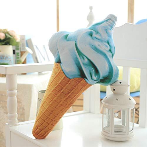DCGSADFW Creatief Ice Cream Kussen Kantoor Lunch Kussen (Kleur, Taro Paars, Vanille Wit, Aardbei Poeder, Muntgroen) Blauw
