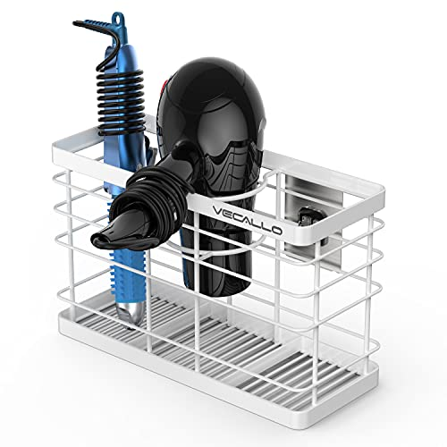 Hair Styling Organizer, Bathroom Hair Care and Styling Tool Organizer Storage Basket for Hair Dryer, Flat Irons, Curling Wands, Hair Straighteners - Wall Mount No Drilling