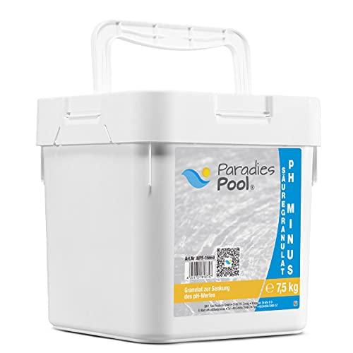 Paradies Pool pH-Minus Granulat 7,5 kg, pH Senker Schwimmbecken Pool