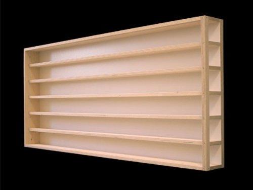 Alsino, E14AL, verzamelvitrine zetkast plank 115 cm 6 vakken HO vitrine met groeven voor spoor H0 linker deel