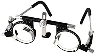CGOLDENWALL Adjustable Optical Optic Trial Lens Frame Eye Test Glasses Optometry Optician Easily Changeable Cylinder Axis Fully Adjustable Temple Length and Nose Rest (PD:50-80)