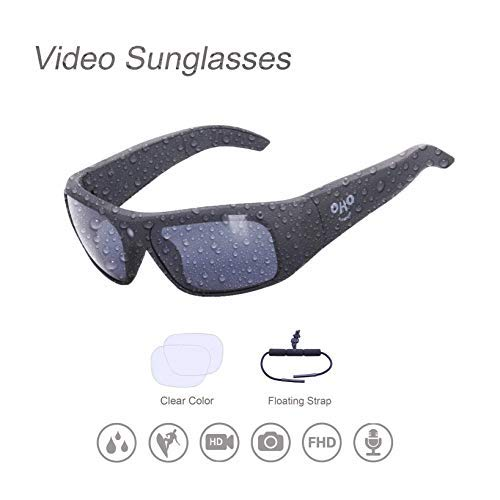 Waterproof Video Sunglasses,Xtreme Sporting 1080P Ultra HD Video Recording Camera and Polarized UV400 Protection Safety Lenses (628F 64G)