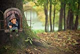 CNZXCO Gartenzwerg, 2St Gartenzwerg Lustig, 15cm Offenes Fenster Zwerg Zwerg, Gartenfiguren FüR AußEn, Gartenzwerge Wetterfest, Erdmännchen Gartenfigur, Harz Cartoon Ornamente, Baum Garten Dekoration