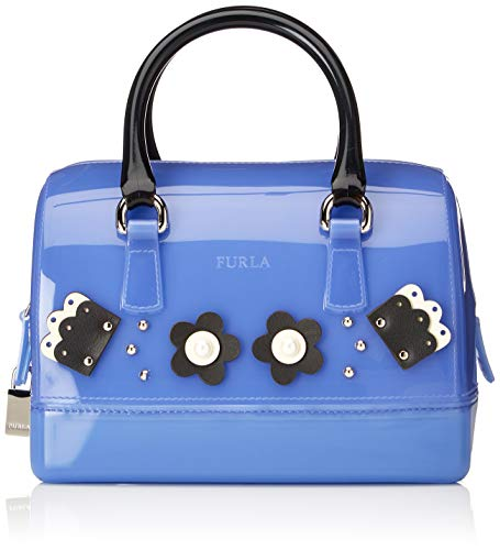 FURLA Candy Cupido - Borsa Donna, Blu (Ginepro E), 13.5x16x22 cm (B x...