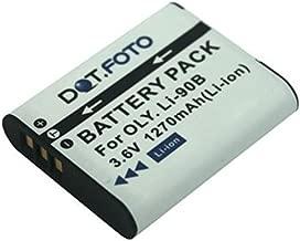 Olympus LI-90B PREMIUM Replacement Rechargeable Camera Battery from Dot Foto 3 6v 1270mAh Year Warranty Olympus Tough TG-1  TG-2  XZ-2