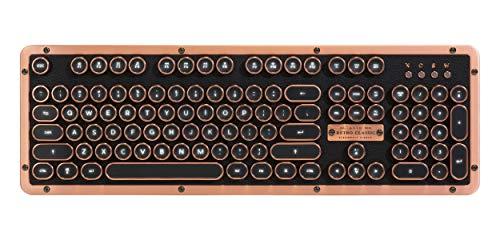 Azio Retro Classic Bluetooth (Artisan) - Luxury Vintage Backlit Mechanical Keyboard, MK-RETRO-L-03B-US