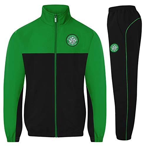 Celtic FC - Jungen Trainingsanzug - Jacke & Hose - Offizielles Merchandise - Geschenk für Fußballfans - Schwarz - 8-9 Jahre