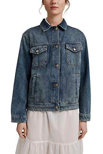 Esprit 041EE1G315 Blazer, 902/Blue Medium Wash, S para Mujer
