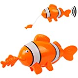 alles-meine.de GmbH 2 Stück _ Aufziehtiere / Badewannenspielzeug - Fisch mit Baby - zum Aufziehen - schwimmt selbst im Wasser - Schwimmtier / aufziehen - für Badewanne / Badespie..