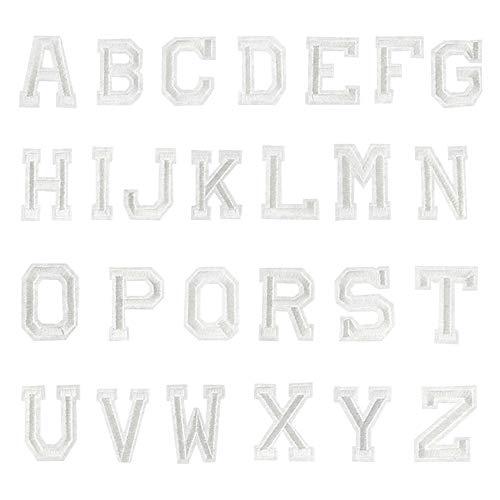 La Haute - Parches bordados con 26 letras del alfabeto para coser en gorros, ropa, mochilas, camisetas, etc. Se pegan con plancha