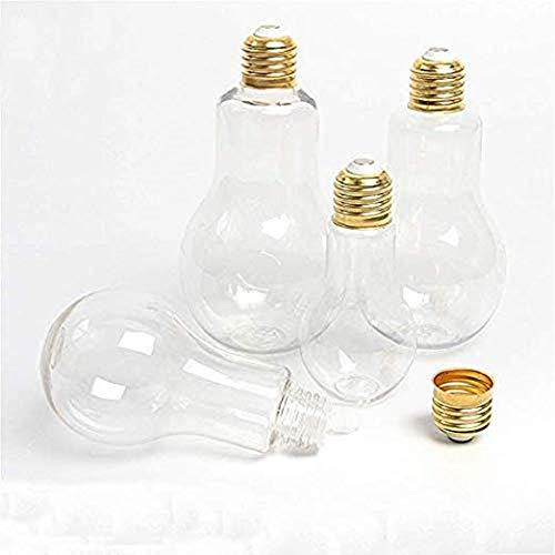 Lámpara de plástico transparente botella de jugo de leche con pajita 10 piezas
