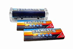 Elements 79mm Cigarette Rolling Machine + 2 Packs of Elements Ultra Thin Rice 1¼ Rolling Papers