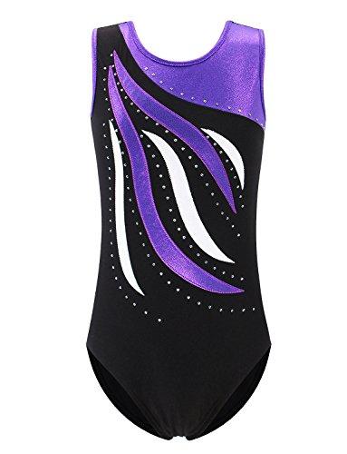 XFGIRLS Gymnastics Leotards for Girls Sleeveless Sparkle Leotard One-Piece...