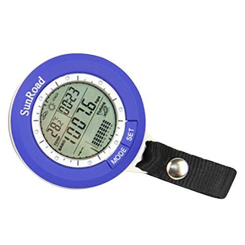 Generic Angeln Angeln Barometer Multifunktionales LCD Digital Außen Angeln Barometer Höhenmesser Thermometer-Blau