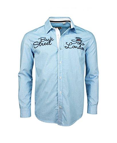Lonsdale Hemd Blau/Weiß S