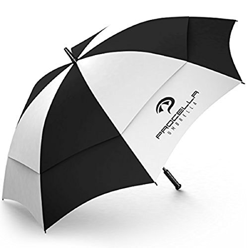 Procella Golf Umbrella Windproof Large 62 inch Waterproof - Automatic Open - Portable - For Men and Women