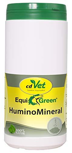 cdVet EquiGreen HuminoMineral 1 kg - Nahrungsergänzung für Pferde mit Mineralien, Mikronährstoffen, Spurenelementen für mehr Vitalität und eine gesunde Verdauung