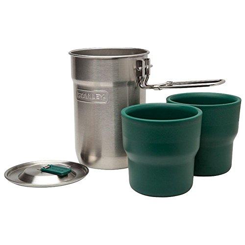 Stanley Adventure Koch- u.Tassen Set 18/8 Edelstahl-Kochtopf 2 Kunststoffbecher