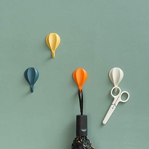 XZJJZ Gancho adhesivo fuerte para globos de aire caliente, gancho fuerte sin perforaciones detrás de la puerta, adecuado para colgar batas, toallas y otros artículos