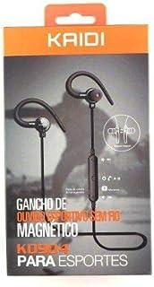 Fone Ouvido Bluetooth Kaidi Kd-904 Original Stereo com Microfone Headphone Sem Fio Earpods Para Esporte corrida fone Wireless Magneto integrado Android, Samsung, e iPhone. (Preto)