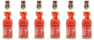 Shirakiku Ramune Marble Soft Drink Strawberry Flavor (6 Pack)