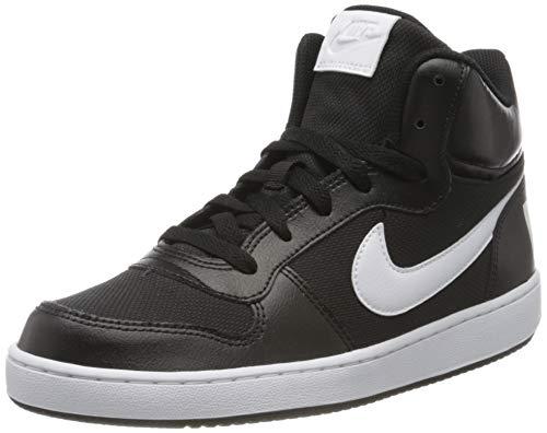 Nike Herren Court Borough MID PE (GS) Basketballschuhe, Mehrfarbig (Black/White 001), 40 EU