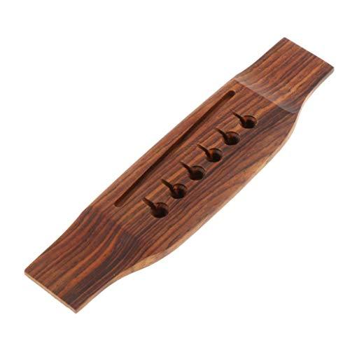 HomeDecTime 6 Saiten Gitarrenbrücke Holzgitarrebrücke - Gitarren Zubehör - Cocobolo-Holz