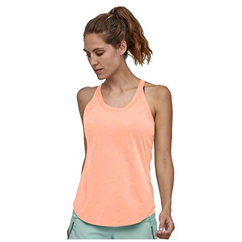 Tanktops Frauen Casual Sport Solid Yoga Shirts Krawatte Workout Racerback (XXL,Rosa)