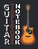 Premium Guitar Tablature Blank Notebook: Play The Song You've Always Wanted To: Blank Paper Sheets Tab Book Journal For Guitarists, Educators And Future Rock Stars