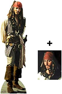 FAN PACK Captain Jack Sparrow (Johnny Depp) LIFESIZE CARDBOARD CUTOUT (STANDEE / STANDUP) - INCLUDES 8X10 (25X20CM) STAR PHOTO - FAN PACK #314