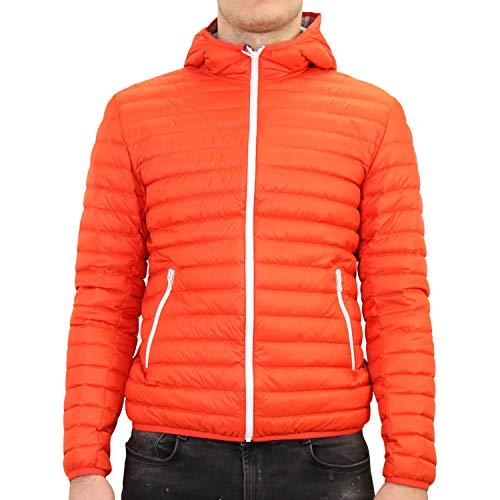 Colmar 2020 - Piumino leggero da uomo con cappuccio, colore: Rosso Rosso (Red/Arancione). 56