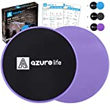 A AZURELIFE Exercise Core Sliders, 2 Pack Dual Sided Exercise Gliding Discs Use...