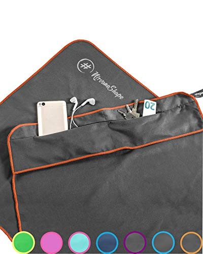 NirvanaShape ® Fitness-Handtuch | Aus starker Mikrofaser mit Magnet-Clip, stilvoll & funktional | Ultra-saugfähig & kompakt | Dein perfektes Sport-Handtuch fürs Fitnessstudio