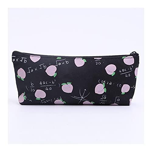 Moonlight Star 1 Piezas de la Bolsa de Lienzo de Lona recepción de Herramientas Negras de Maquillaje de Maquillaje Caja de cosméticos (Color : Style A)