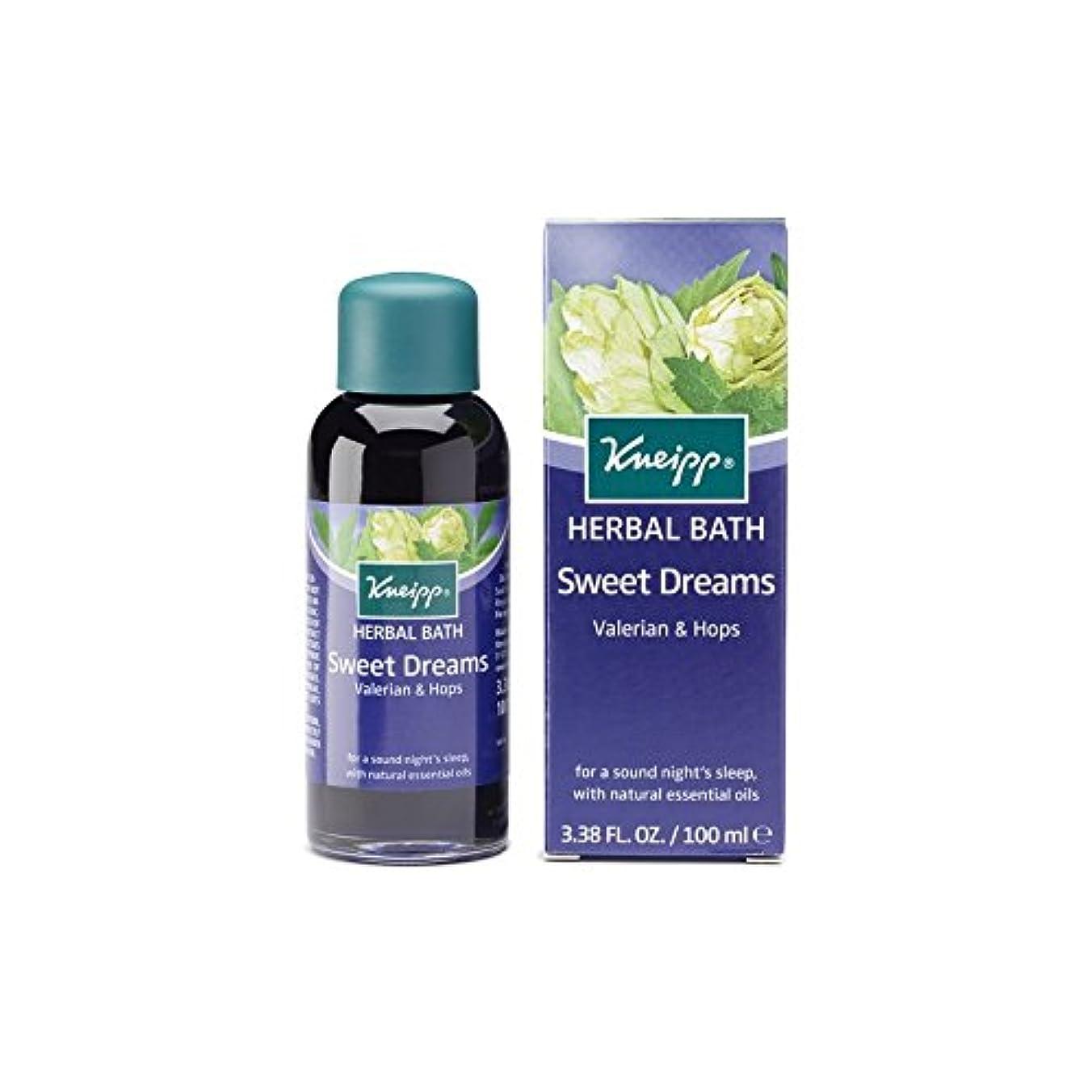 抽象化天使固めるKneipp Sweet Dreams Herbal Valerian and Hops Bath Oil (100ml) (Pack of 6) - クナイプ甘い夢ハーブカノコソウとバスオイル(100ミリリットル)をホップ x6 [並行輸入品]