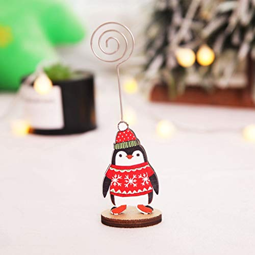 Xisheep Creative Christmas Business Card Holder Message Folder Photo Clip, Christmas Holiday Party Decoration