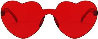 Amosfun 3Pcs Harry Styles Occhiali Cuore Cuori Rossi Festival Occhiali da Sole Occhiali da Sole Donne Amore- Cuore- Una Fo...