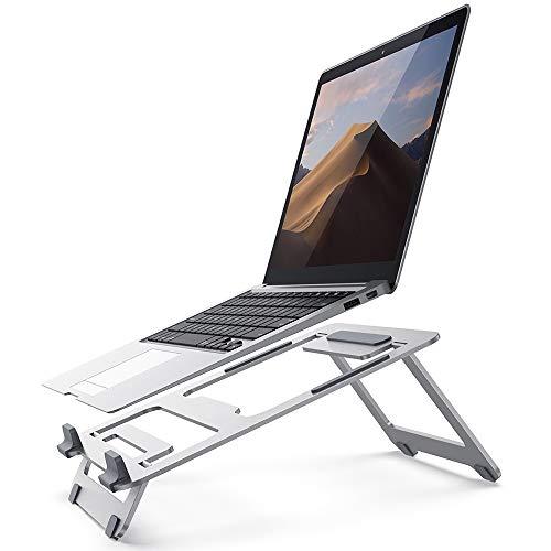 DEDECP Soporte para computadora portátil, Soporte para computadora portátil ventilado Compatible con computadoras portátiles y tabletas de 10-15.6'