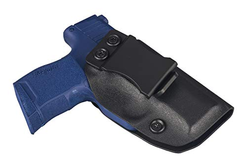 TEGE Sig P365 Holsters, IWB KYDEX Holster Fit Sig Sauer P365 Inside The Waistband Tactical Concealed Carry Belt Holsters with Adjustable Cant/Retention, Right-Handed, Black