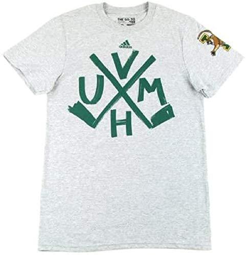 adidas Vermont Catamounts Hockey Sticks T-Shirt–Grau, Herren, grau, X-Large